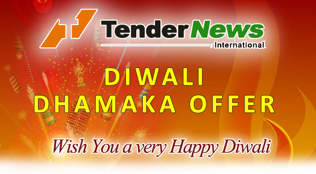 Tendernews.com, Provide you 40% discount on our annual subscription + 6 month extra validity, Happy Diwali !